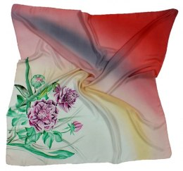AM-010 Hand-painted silk scarf, 90x90cm