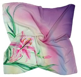 AM-013 Hand-painted silk scarf, 90x90cm