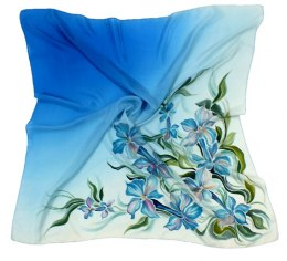 AM-114A Hand-painted silk scarf, 90x90cm