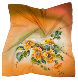 AM-121 Hand-painted silk scarf, 90x90cm