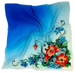 AM-128 Hand-painted Silk Scarf