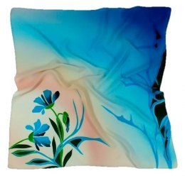 AM-132 Hand-painted Silk Scarf