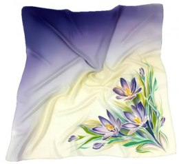 AM-139 Hand-painted silk scarf, 90x90cm