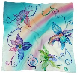 AM-151 Hand-painted Silk Scarf