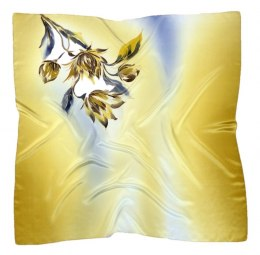 AM-347 Hand-painted silk scarf, 90x90cm