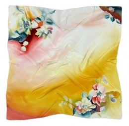 AM-348 Hand-painted silk scarf, 90x90cm