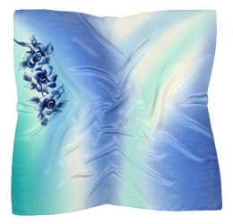 AM-349 Hand-painted silk scarf, 90x90cm