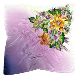 AM-356 Hand-painted Silk Scarf