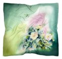 AM-360 Hand-painted silk scarf, 90x90cm (1)