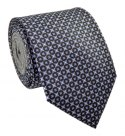 Brown Silk Tie with Blue Circles - MILANO