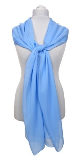 SZZ-302 One-color silk scarf - Georgette, 200x65cm