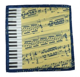 "CH-012 Silk Pocket Square, F. Chopin - ""Polonaise""/""Polonez"""