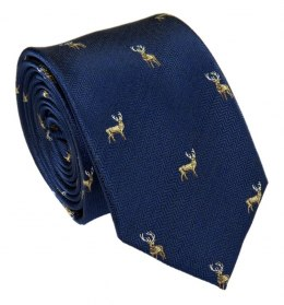 Navy Tie for the Hunter with a Deer