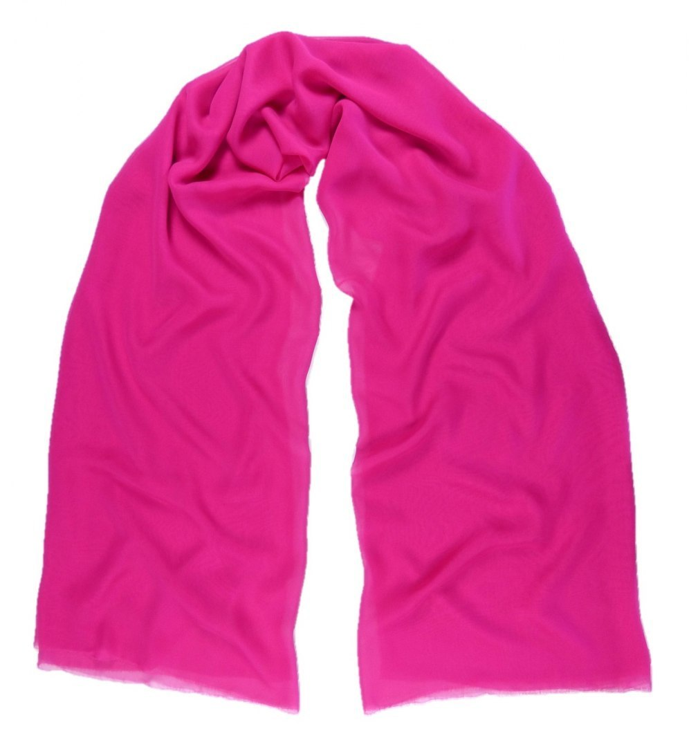 SZZ-306 One-color silk scarf - Georgette, 200x65cm