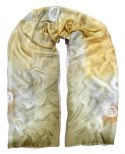 Large Brown Hand-painted Silk Scarf, 250x90 cm (5)