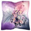 AM-417 Hand-painted silk scarf, 90x90cm (1)