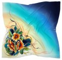 AM-606 Hand-painted silk scarf, 90x90cm