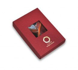 Box with logo - maroon