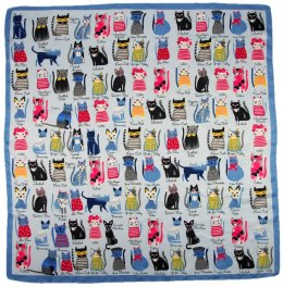 AP-001 Large Printeded Cats scarf, 90x90