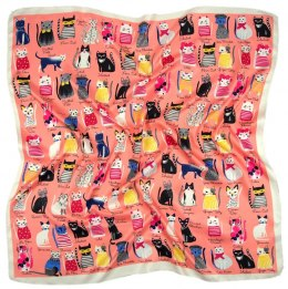 AP-004 Large Printeded Cats Scarf, 90x90