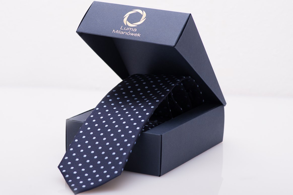 Navy Silk Tie in Sneakers - MILANO