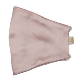 Silk mask with filter pocket - Light pink