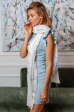 One-color silk scarf, 130x30cm - Habotai