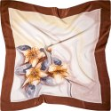 AM-609 Hand-painted silk scarf, 90x90cm