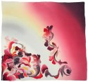 AM-663 Hand-painted silk scarf, 90x90cm