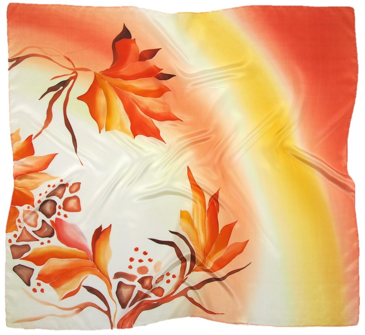 AM-675 Hand-painted silk scarf, 90x90cm