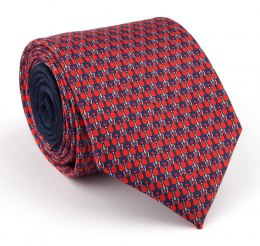 Red silk tie with stirrups - MILANO