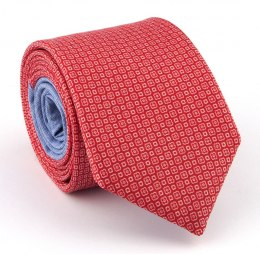 Red Silk Tie with Micro-pattern - MILANO