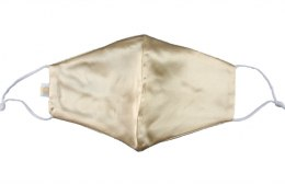 Silk mask with filter pocket - Golden beige