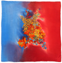 AM-685 Hand-painted silk scarf, 90x90cm (2)