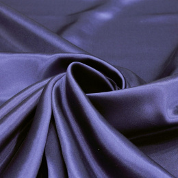 Navy blue silk satin scarf, 90x90cm