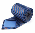 Navy Blue Silk Tie with a Pattern - MILANO