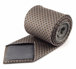 Brown Silk Tie with a Pattern - MILANO