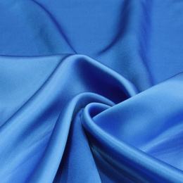 Light azure silk satin scarf, 90x90cm