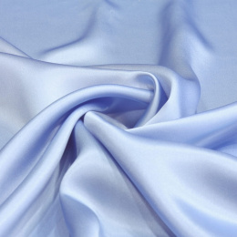 Light blue silk satin scarf, 90x90cm