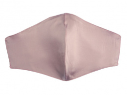 Silk mask with filter pocket - Ash rose