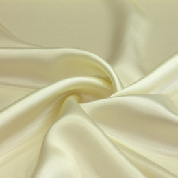 Cream silk satin scarf, 70x70cm