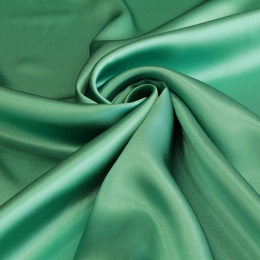 Emerald Green silk satin scarf, 90x90cm