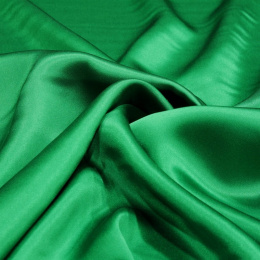 Grass Green silk satin scarf, 90x90cm