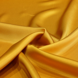 Golden silk satin scarf, 90x90cm