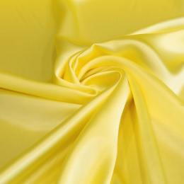 Yellow silk satin scarf, 90x90cm