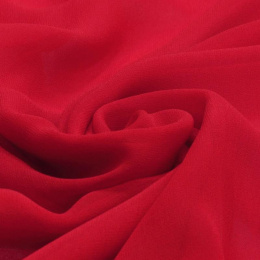 Red Crepe Silk Scarf, 220x65cm