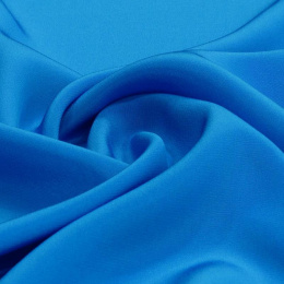 The azure-blue Crepe Silk Scarf, 220x65cm