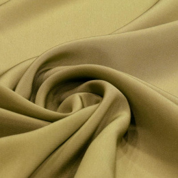 Olive Crepe Silk Scarf, 220x65cm