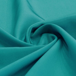 Turquoise Crepe Silk Scarf, 220x65cm