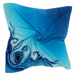 AM-170 Hand-painted silk scarf, 90x90cm